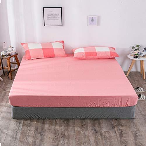 haiba Sábana bajera ajustable para cama individual, microfibra cepillada suave y resistente a las arrugas, 150 x 200 + 25 cm