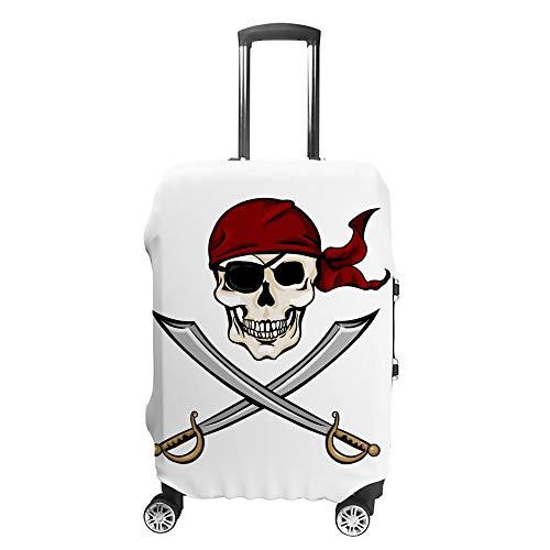 Ruchen - Funda Protectora para Maleta, diseño de Calavera Pirata y Espadas Cruzadas