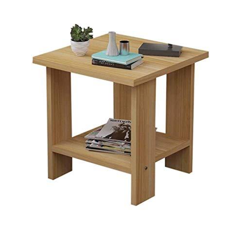 Shelves Bedside Table,End Table End Table Small Sturdy Night Cube Table,Wooden Coffee Table With Shelf Storage Unit (Color : Zebra Color, Size : 50 * 50 * 52cm),Size:40*40*42cm,Colour:Teak Color Flowe