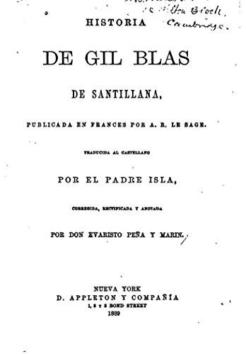 Historia de Gil Blas de Santillana eBook: Le Sage, Alain René ...