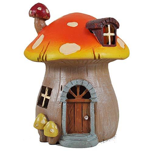 Mystical Mushroom Garden House-Scultura alta qualità per interni ed esterni, Magical Idea regalo, altezza 15 cm