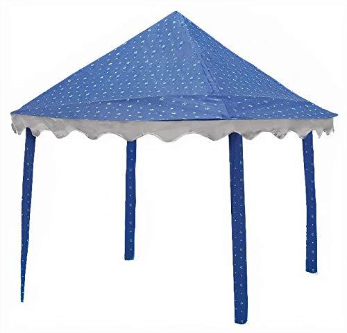 canopy-tent trampoline stars 3,05 meter blue
