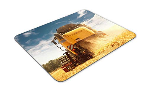 Combine Harvester Farming Crop Mouse Mat Pad - Agricultural Gift Computer #14293