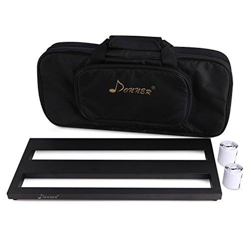 Donner-Pedalera de efecto Ligero y Portable para Guitarra con Cinta de Gancho y Bucle DB-2
