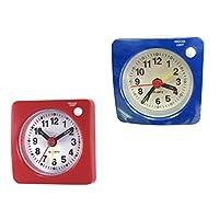 ミニアラーム クロック 置時計 目覚まし時計 トラベル クロック 旅行 室内 サウンドクロック 2個