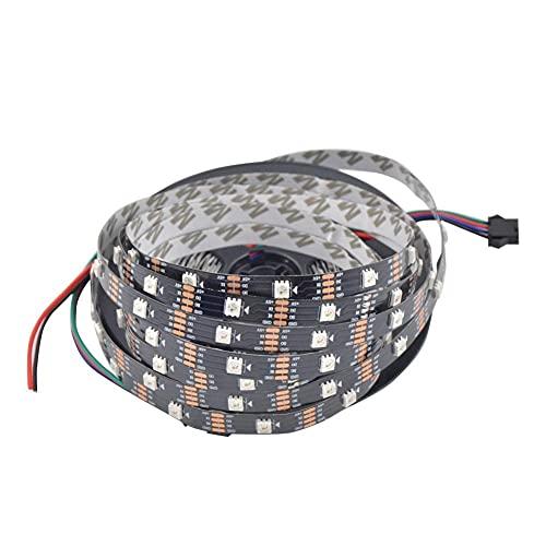 Módulo electrónico 1M 5M WS2813 RGB Dream Color No- Impermeable DIRIGIÓ Luz de Tira de píxeles para decoración de Fiesta de Vacaciones (Color : Black, Size : 1M)