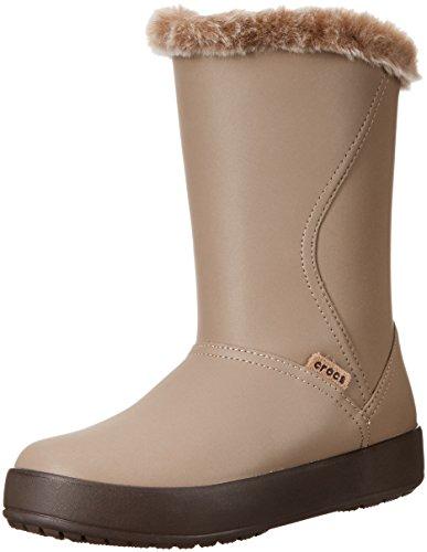 crocs Damen Mid W Colorlite Mittelhohe Stiefel-W, Khaki/Espresso, 36 EU