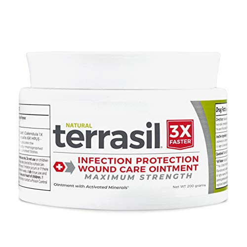 Terrasil Wound Care Max - 3X Faster Healing, Infection Protection Ointment for Bed sores, Pressure sores, Diabetic Wounds, ulcers, cuts, scrapes, and Burns - 200gm Jar