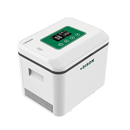 Dison Care Insulina portátil caso del recorrido Caja del refrigerador,la diabetes mini refrigerador, Alta capacidad,pantalla LCD de carga 2-8 ° C con conexiones WIFI