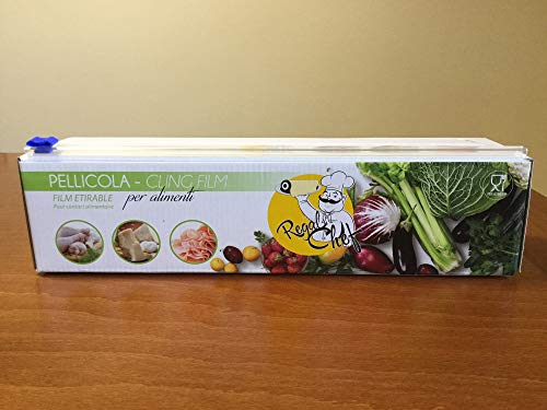 Regal Chef portarotolo professionale alimentare da cucina riutilizzabile JET-CUT con zip taglierina incorporato + pellicola alta qualità elevata resistenza da 300 metri 9my per 30cm.