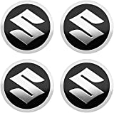4 Piezas Rueda Centro Cap para Suzuki Grand Vitara SX4 Swift Jimny 56mm, Emblem Centro Tapacubos Tapas Impermeable AntióXido DecoracióN Accesorios