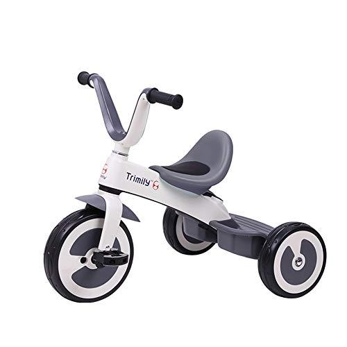 Cochecito De Bebé Bicicleta for Niños Ligero Triciclo De 1-3-6 Años Montando Juguetes Niño Y Niña Triciclo Portátil Al Aire Libre Interior (Color : Gray)