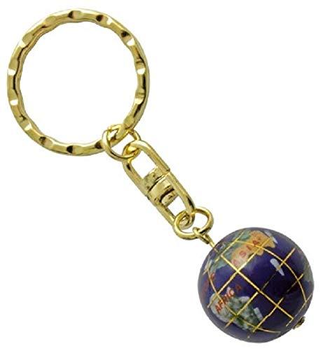Schlüsselanhänger Edelstein Lapis Lazuli Globus, 1,9 cm, Edelstein Schlüsselring