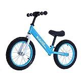 GASLIKE Bicicleta de Equilibrio para niños, sin Pedales, Ruedas de 12/14 Pulgadas, Asiento Ajustable, Primera Bicicleta para niños de 2-8 años de Edad, Estable y Segura,G 14inch Blue