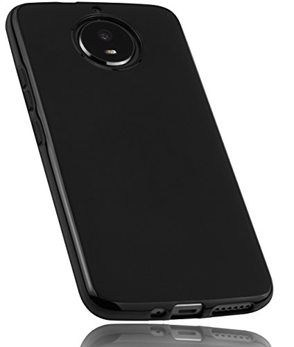 mumbi Hülle kompatibel mit Motorola Moto G5S Handy Hülle Handyhülle, schwarz