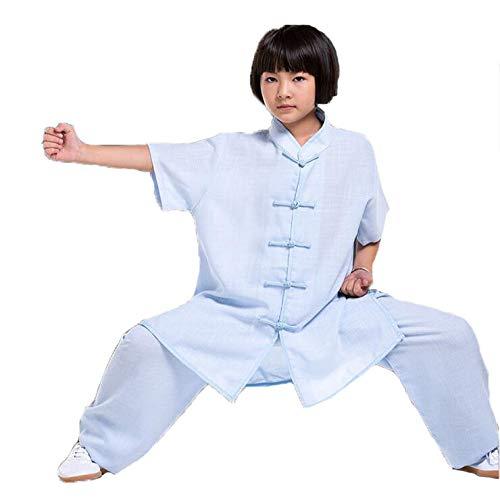 HYMY Tai Chi Uniforme kleding Qi Gong vechtsporten vleugel Chun Shaolin Kung Fu kinder katoen en linnen