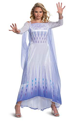 Disguise - Disfraz para mujer de la reina de la nieve Elsa Deluxe Frozen para Halloween - Blanco - L