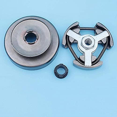 Kit de engranaje helicoidal de tambor de embrague recto de 3/8'compatible con Huskvarna 61266 66162268272 272XP Repuestos de motosierra estilo antiguo Piezas de repuesto