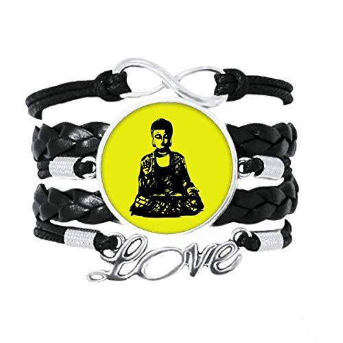 OFFbb-USA Shakyamuni - Pulsera de sublimación para meditar, accesorio de amor,...