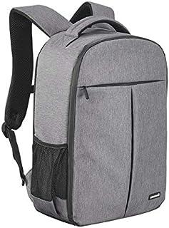 Cullmann MALAGA BackPack 550+ Fotorucksack für DSLR Ausrüstung mit Tabletfach A4 Fronttasche wasserabweisend Rip Stop Polyester PU Beschichtung Inneneinteiler Zubehörfächer Grau