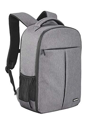 Cullmann MALAGA BackPack 550+ Fotorucksack für DSLR Ausrüstung mit Tabletfach A4 Fronttasche wasserabweisend Rip-Stop Polyester PU-Beschichtung Inneneinteiler Zubehörfächer Grau