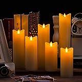 Air Zuker 6er LED Flammenlose Kerzen batteriebetriebene Kerzen Säule Echtwachskerzen mit Timer und 10 Tasten Fernbedienung, für Dekorations zB. Party, Hochzeit, Tisch - 9