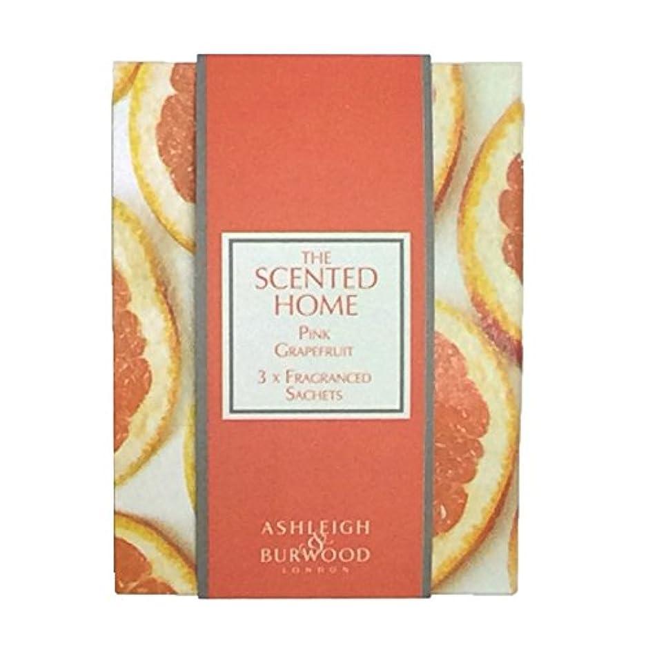 芸術的レンダー黄ばむAshleigh&Burwood サシェ×3個 ピンクグレープフルーツ Sachet×3 Pink Grapefruit アシュレイ&バーウッド