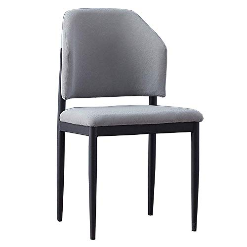 JIEER-C bureaustoel Ontwerp Modern Sedie Pranzo Design van velours, rugleuning voor keuken, huishoudelijk gebruik gemaakt van metaal, gewatteerde zitting, geschikt voor Studio Bar Restaurant (kleur: Orange) Grijs