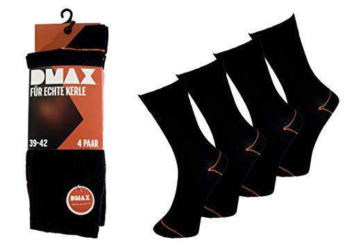 DMAX Classic Businesssocken für echte Kerle - 4|8|12|24 Paar - wahlweise in Schwarz, Hellgrau, Dunkelgrau,Blau und drei Größen 39-42/43-46/47-50 (47-50, 24 Paar Schwarz)
