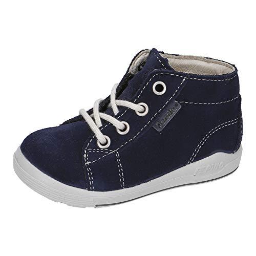 RICOSTA Unisex - Kinder Stiefel ZAYNI von Pepino, Weite: Weit (WMS),wasserfest, Boots schnürstiefel Leder Kids junior toben,Nautic,20 EU / 4 Child UK