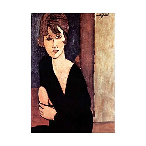 Wee Blue Coo Painting Amedeo Modigliani Madame Reynouard Wall Art Print
