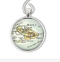 SnowFlower Custom Ornament, Personalize Hawaiian Ornaments, Husband Gift, Maui Hawaii Ornament gift, Christmas Ornament, hawaii map charm ornament