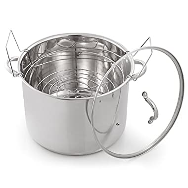 McSunley 620 Medium Stainless Steel Prep N Cook Water Bath Canner, 21.5 quart, Silver