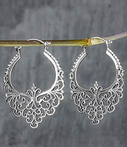 Silber Ohrringe KARMA II - 925 Sterling - Hängend ca. 3,5cm - Exklusive Schmuckschachtel