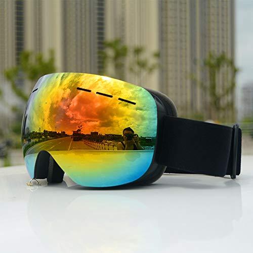 Yuzhijie Gafas de esquí para adultos explosivas grandes esféricas que pueden tarjeta miopía / HX06 doble antivaho, 2