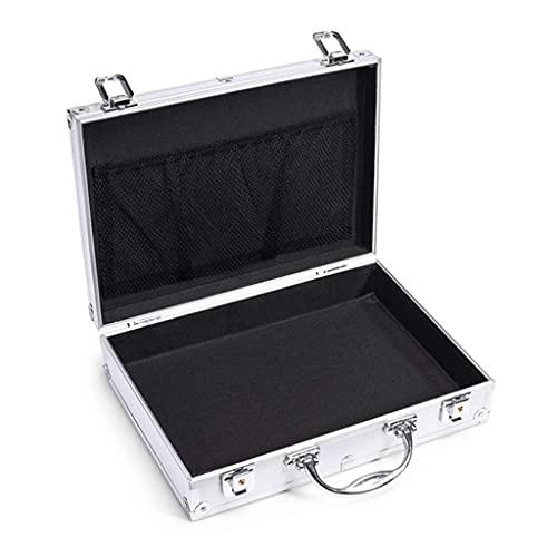 Cajas de herramientas Caja de herramientas portátil de aleación de aluminio Maletín de aluminio de lados rígidos con cerraduras de combinación Caja de herramientas Organizadores de herramientas p