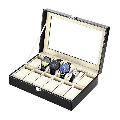 Zogin Scatola Porta Orologi con 12 Scompartimenti per Tenere gli Orologi in Ordine