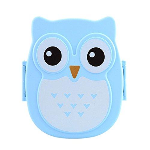 Guangcailun Cartoon Owl Boîte à Lunch Nourriture Fruits Conteneur Portable Bento Box Pique-Nique Container Lunchbox