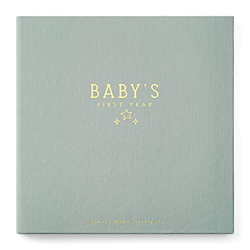 Lucy Darling Celestial Skies Theme Luxury Baby Memory Book - First Year Journal Album Photo Book To Capture Precious Memories - Keepsake Pregnancy Baby Record Book For Boy Or Girl