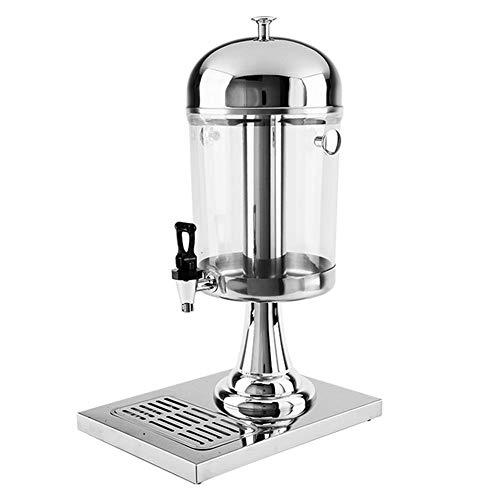 Kanqingqing Dispensador De Jugo Profesional de Hielo y se calienta Bebida de Zumo de máquina de Bebidas Máquina de Acero Inoxidable dispensador de Bebidas (Color : Plata, tamaño : 26x35x59cm)