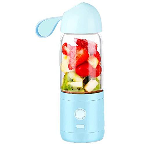 MHBY Exprimidor eléctrico, exprimidor automático multifunción, se puede utilizar para viajes familiares/al aire libre, extractor de frutas y verduras. Fácil de limpiar!
