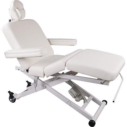 103336 Vollelektrische Behandlungs- Massageliege mit 3 Motoren weiß