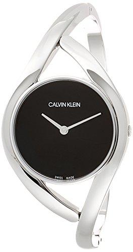 Calvin Klein Damen Analog Quarz Uhr mit Edelstahl Armband K8U2M111