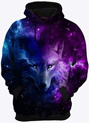 Blusa de Frio Moletom Lobo Galáxia (GG)