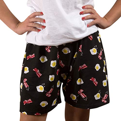 Pavilion Gift Company Bacon and Eggs-L Black Unisex Boxers