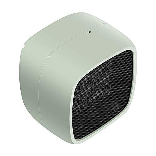 Pequeño Portable Calefactor,Silencioso Cerámica Mini Calefactor Eléctrico Vertical Ajustable Termostato Diferentes Ajustes De Calor Calefactor Eléctrico Para Casa Oficina-Verde 13x13.5x10cm