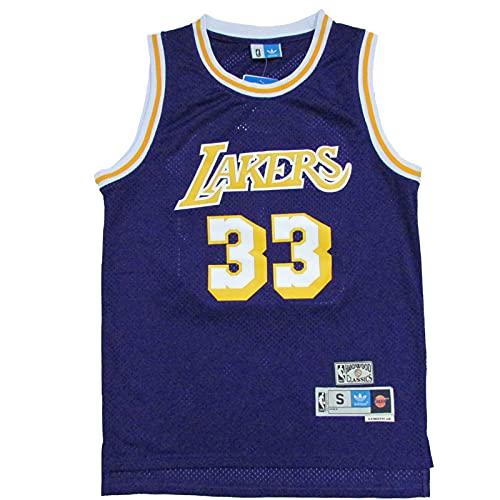KKSY Camisetas de Hombre Kareem Abdul-Jabbar # 32 Camisetas de Baloncesto de Los Angeles Lakers Chaleco Transpirable,B,XL