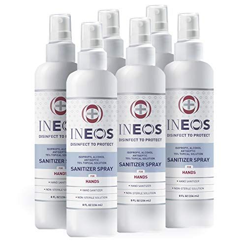 INEOS Hygienics Hand Sanitizer Spray, with 75% Isopropyl...