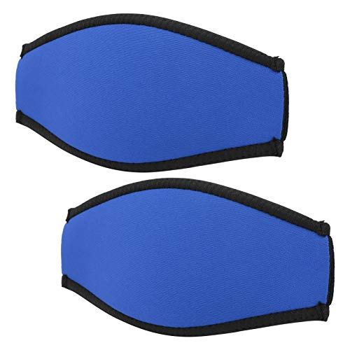 Shipenophy Buceo Slap Cover Anti Sudor Underwater Snorkeling Cover 2pcs Buceo Slap Mirror Strap Fácil y Cómodo, para Esquí Acuático, Piragüismo y Kayak(Blue)