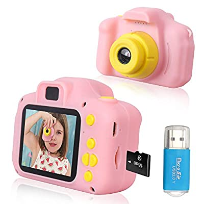 Rindol Toys for 4-9 Year Old Girls,Kids Camera Compact for Child Little Hands, Smooth Shape Toddler Camera,Best Birthday Gifts for 4 5 6 7 8 9 Year Old Girls